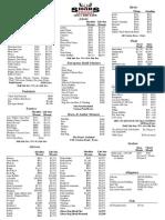 Shur's Taxidermy Price List