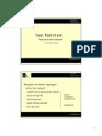 Pemetaan 1 - Teori Tachimetri D3 TEKNIK SIPIL ITS