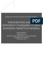 Implementing Energy Efficiency Standards to Meet Emissions Targets in Georgia