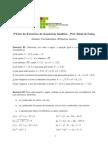 3a Lista de Execícios de Geometria Analítica
