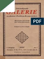 Hans Schaffer - Internationale Galerie Moderner Problem-Komponisten 1930 (German)