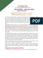 Solar Eclipse- January 2010