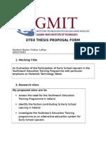 thesis proposal form finbar laffan