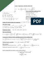 Formula Sheet Final 2013 Power Electronics