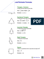 Area Perimeter Formula