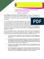 Pronunciamiento #16días por un #ActivismoCongruente (101214)