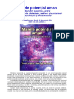 Marele potential uman, de Tom Kenyon si Wendy Kennedy (Editura Proxima Mundi)