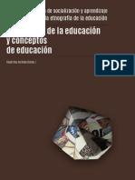 DocumentoEtnografías de la educación y conceptos de educación