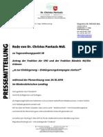 Pantazis' Rede | Ja zur Einbürgerung – Einbürgerungskampagne starten! (24.10.2014)