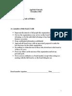 ASN Board Member Code of Ethics