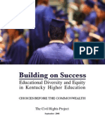 Building on Success Educational Diversity and Equity in Kentucky Higher Educaction