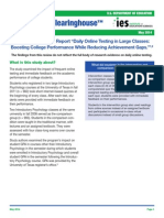 """WWC Review of the Report """"Daily Online Testing in Large Classes"""