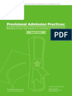 Provisional Admission Practices Blending Access and Support to Facilitate Student Success