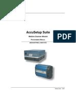 AccuSetup Suite Medium Scanner Module Programming Manual