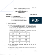 Gujarat University B E Chemical 6 Semester Mass Transfer Operation 2 (Previous Year Question Paper From 2002 to 2009)