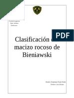 clasificacion geomecanica bieniawski