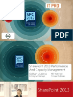 SharePoint Performance and capacity management