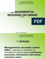 Curs 8 Managementul Resurselor Umane