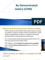 weebly credit by demonstrated mastery dec 2014