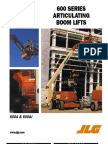 JLG 600 SERIES ARTICULATING BOOM LIFTS 600A & 600AJ