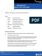 VDE Webinar Notes