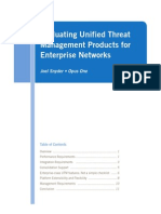Evaluating Unified Threat Management Products