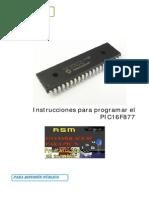 TUTORIAL PARA EL PIC16F877A CONJUNTO DE 35 INSTRUCCIONES EN ASSEMBLER