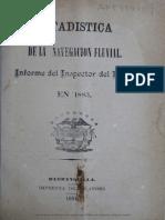 Estadistica de Navegacion Fluvial 1884