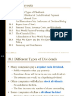 Dividend and Other Payout Ch18