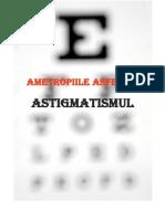 Ametropiile Asferice Astigmatismul