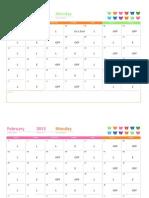 2015 Work Schedule