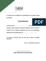 Formato de Constancia de Notas (Pa La Villa)