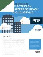 Checklist for Choosing Enterprise-Ready Cloud Services