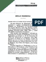 Mensaje Del Presidente a La Asamblea Nacional Constituyente de 1908