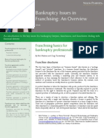 Bankruptcy Issues in Franchising