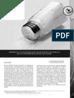 presencia y concentración de fluor en las marcas de sal