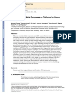 Novel Metals and Metal Complexes as Platforms for Cancer