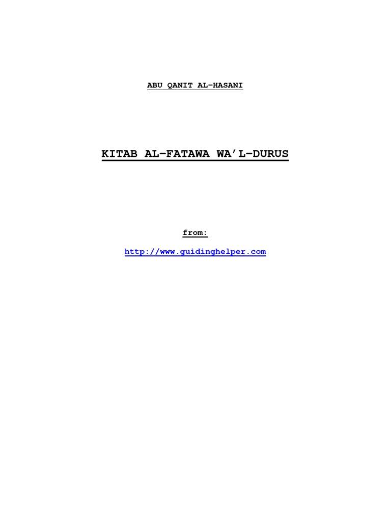 Fantastic Abu Qanit Al-Hasani_Fatawa | Time | Argument KB52