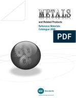 Metals and Related Products Reference Materials Catalogue 2008
