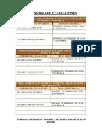 Calendario de Evaluaciones 2