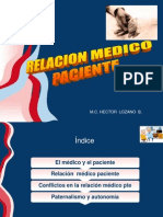 4. Relación Medico-Paciente - Dr. Héctor Lozano Briceño