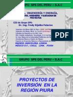 Proyectos de Inversion en La Region Piura