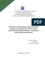 Venezuela Diseño Costos y Gastos