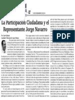 Participación Ciudadana y Jorge Navarro