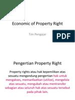 Kul 7. Economic of Property Right