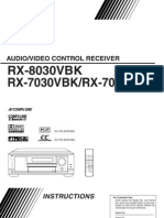 JVC RX-8030VBK Instruction Manual