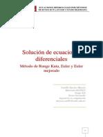 Métodos numéricos - Método de Runge Kutta, Euler y Euler mejorado