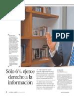 Sólo 6% ejerce derecho de acceso a la información