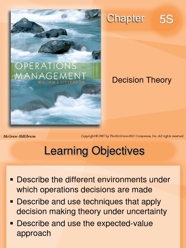 OPERATIONS MANAGEMENT WILLIAM STEVENSON 9e   Epistemology Of Science