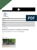 A Revista Da Moto! Honda Cg 150 Titan Vs